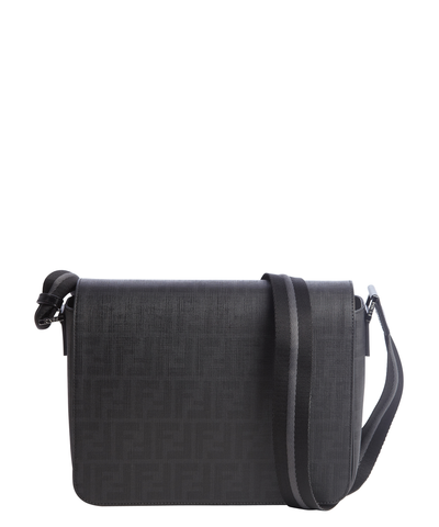 Black And Grey Zucca Spalmati Small Messenger Bag