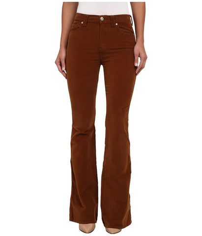 7 For All Mankind - Fashion Flare in Cognac (Cognac) Women's Casual Pants
