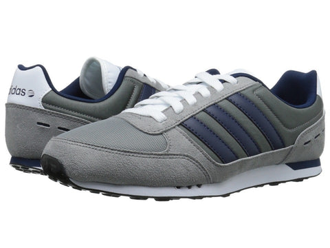 adidas - Neo City Racer (Grey/Navy/White) Men's Shoes