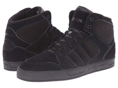 adidas - BBNEO Raleigh Mid (Black/Black/Black) Men's Shoes