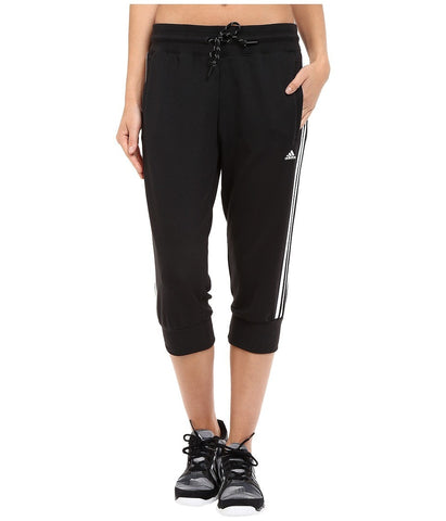 adidas - Essential 3S 3/4 Pants (Black/White) Women's Casual Pants