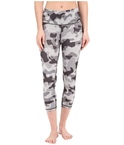 adidas - Performer Mid Rise 3/4 Tights w/ Camo Print (DGH Solid Grey/Matte Silver) Women's Casual Pants