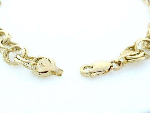 """10K Yellow Gold Solid Link Charm Bracelet"" - SprintShopping"