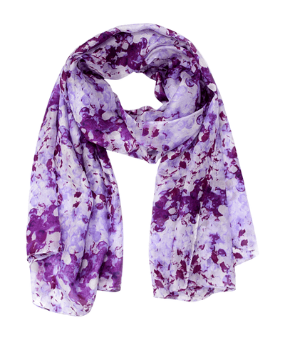 Abstract Floral Silk Scarf