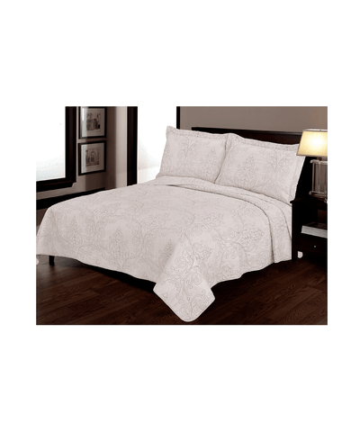 100% Cotton Embroidered Victoria Quilt Set