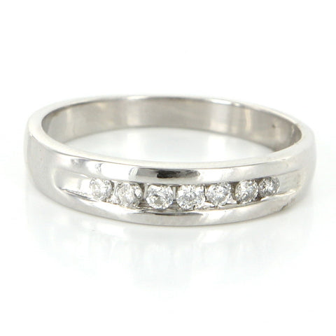 """10K White Gold Diamond Mens Wedding Band Ring"" - SprintShopping"