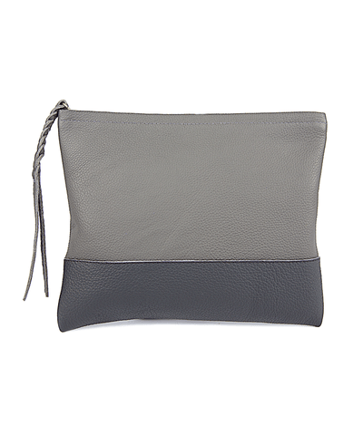2 Tone Zippered Clutch_39067