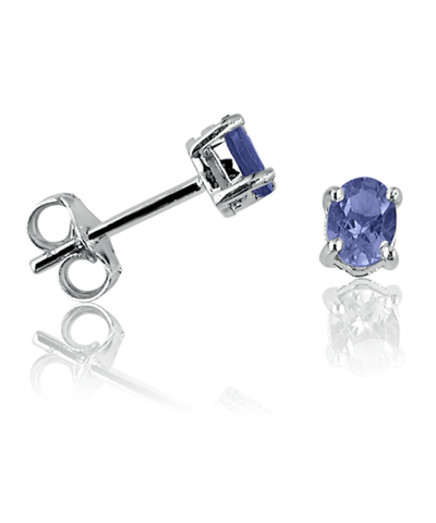 .65ct Tanzanite Stud Earrings Set In Sterling Silver