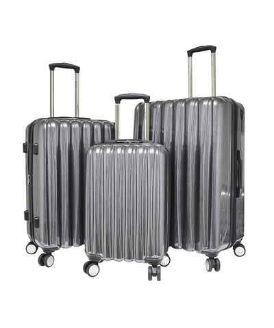 3 Piece (nova Collection) Expandable Hardside Luggage Set W/ 360° 4x4 (8) Wheel System