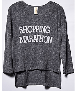 'shopping Marathon' Long Sleeve Top