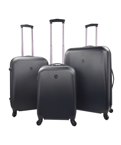 3pc (ruby Collection) Round Shell Spinner Luggage Set_44540