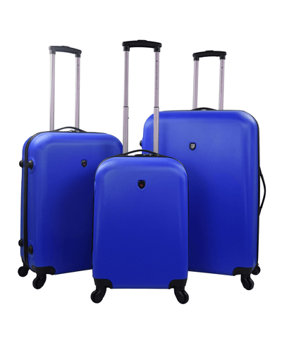 3pc (ruby Collection) Round Shell Spinner Luggage Set_44541
