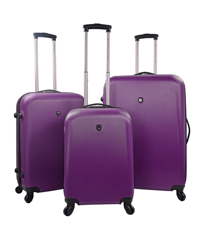 3pc (ruby Collection) Round Shell Spinner Luggage Set_44542