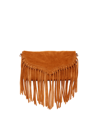 'lillian' Suede Fringe Crossbody_46540