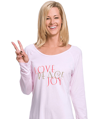 'rosie' Baseball 'love, Peace, Joy' Sleepshirt