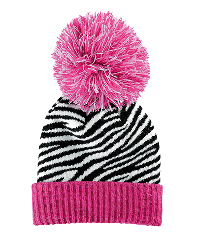 4-6 Kid Oversized Beanie With Pom And Cuff