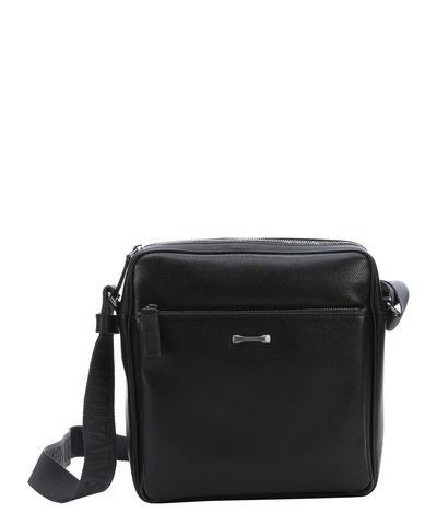 Black Calfskin Messenger Bag