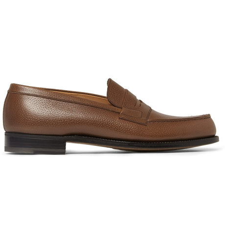 180 The Moccasin Leather Loafers Brown_4321