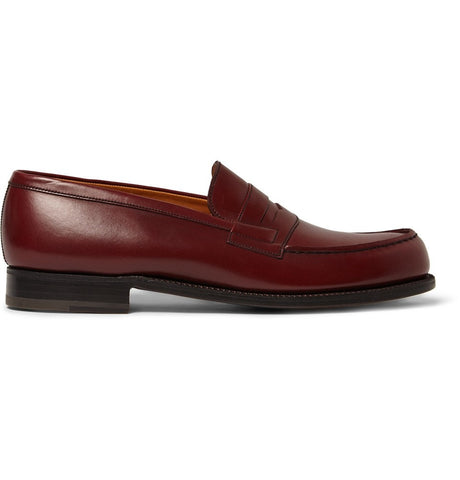 180 The Moccasin Leather Loafers Burgundy