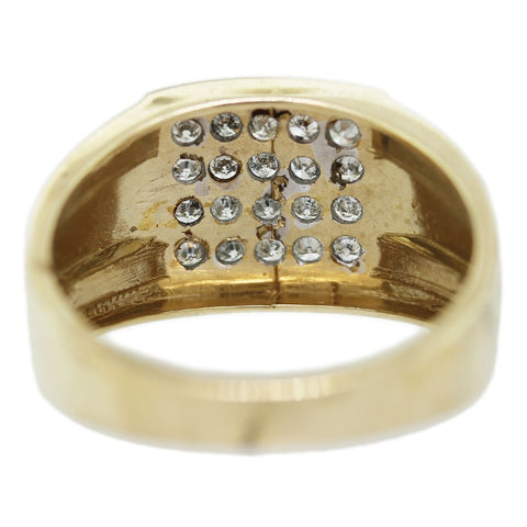 """10K Two Tone Gold Mens Diamond Ring"" - SprintShopping"