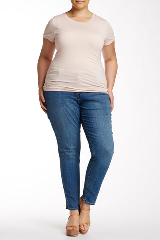 Mid Rise Skinny Jean (Plus Size)-838