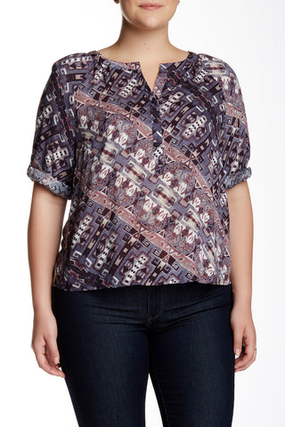 Battista Printed Blouse (Plus Size)