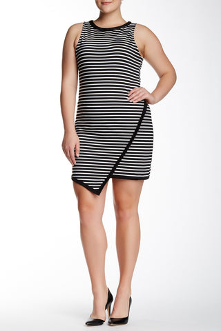 Agata Striped Dress (Plus Size)