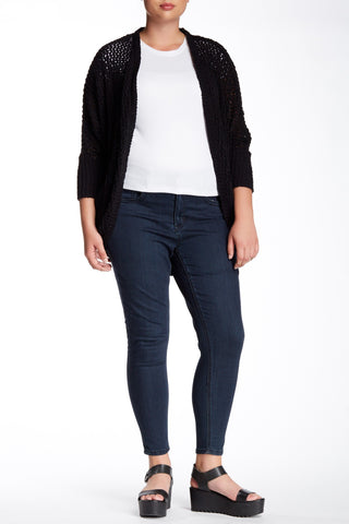 Embroidered Pocket Pencil Jean (Plus Size)-6258