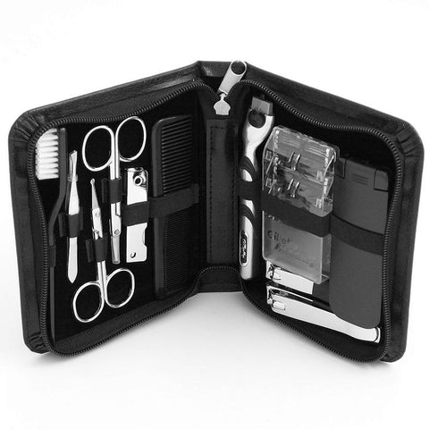 11-pc. Manicure and Shave Set, Black