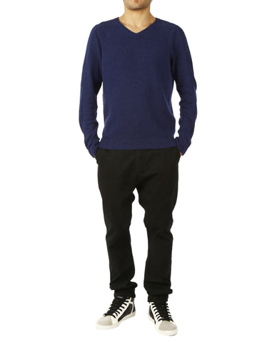 Altalana Mixed Cashmere Wool V-Neck Sweater - 719Blu