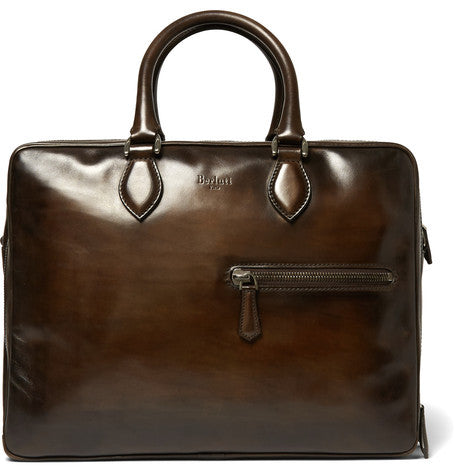 Berluti - 24-hour Polished-leather Holdall - Brown