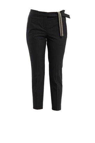 Brunello Cucinelli Cropped Pants - Black
