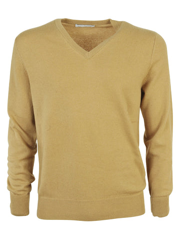Ballantyne V Neck Sweater - Beige