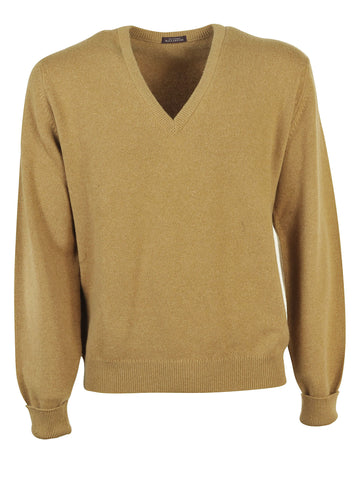 Ballantyne Vicuña V Neck Sweater - Beige