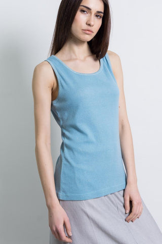 100% Cotton Tank Top - Turquoise