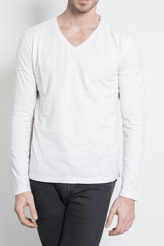 100% Flamed Cotton Long Sleeve T-Shirt - 16Sand
