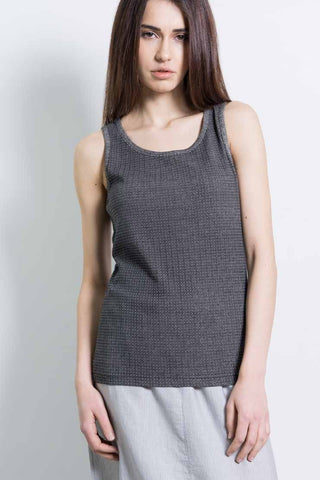 100% Cotton Tank Top - Black