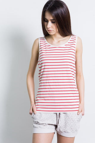 100% Cotton Tank Top - Coralred
