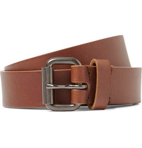 2.5cm Brown Leather Belt Brown_4024