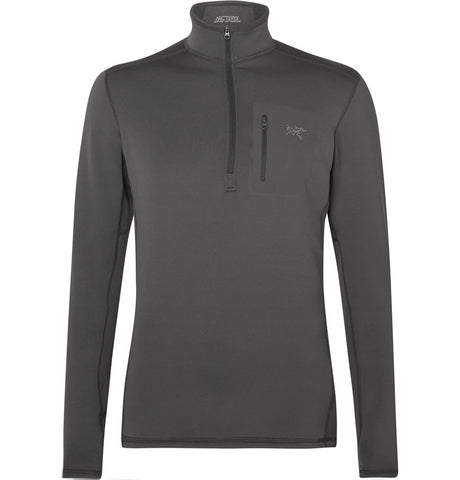 Rho AR Stretch-Jersey Base Layer Top Gray