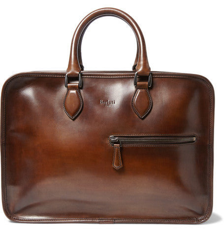Berluti - Deux Jours Polished-leather Briefcase - Brown