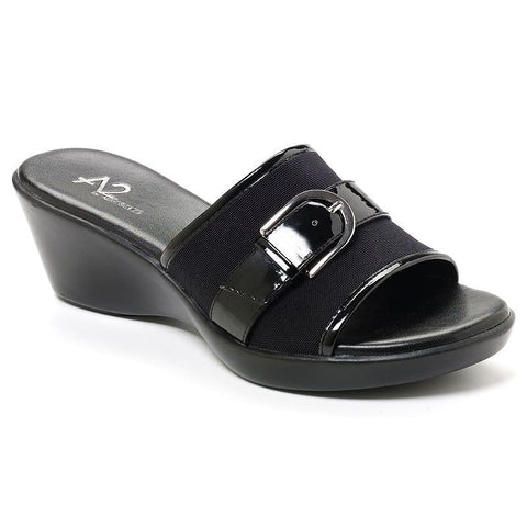 A2 by Aerosoles Eyes On You Women's Wedge Sandals Black