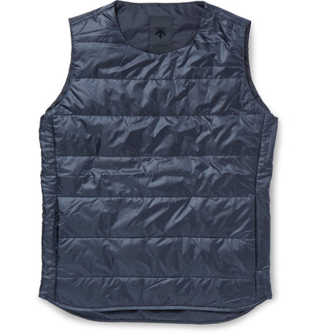 H.C.S. Quilted Shell Down Gilet Blue