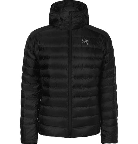 Cerium LT Quilted Shell Hooded Down Jacket Black