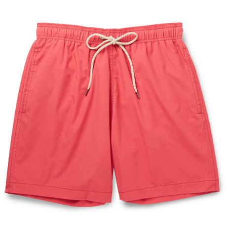 Beacon Mid-Length Swim Shorts Red