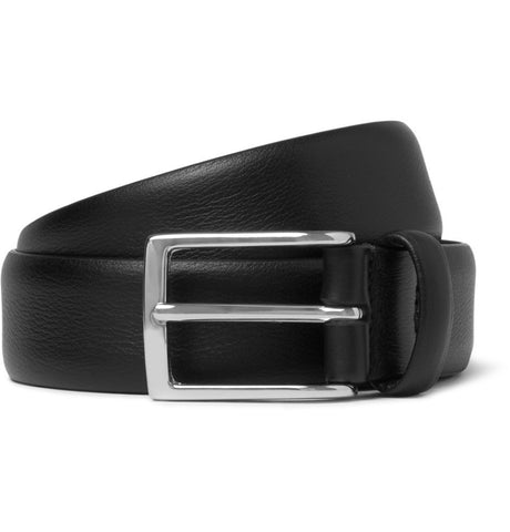 3cm Black Leather Belt Black_3974