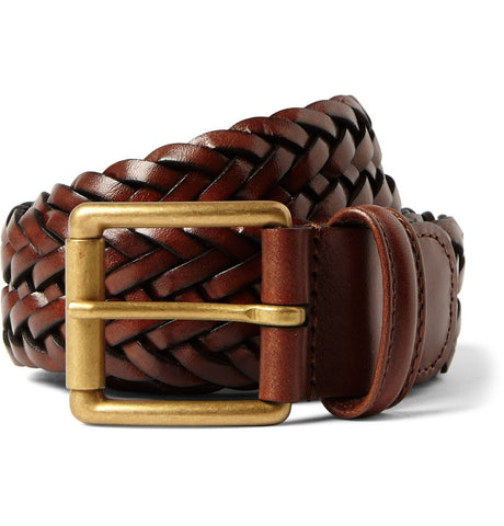 3.5cm Brown Leather Belt Brown_3996