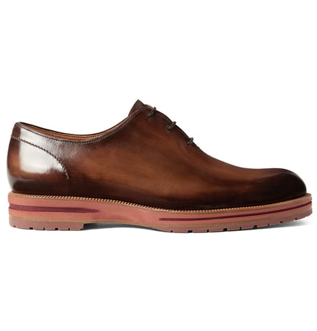Alessio Polished-Leather Oxford Shoes Brown_2880