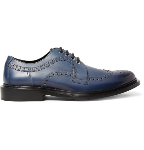 Alec Leather Brogues Blue