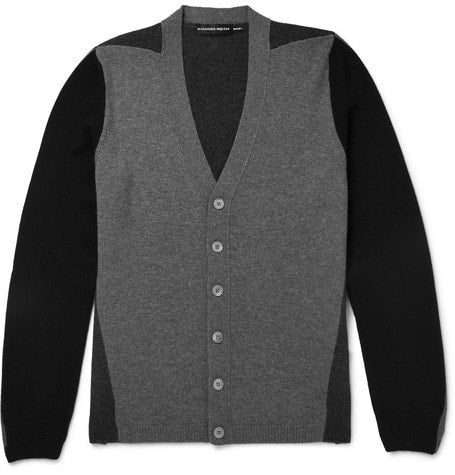 Alexander McQueen - Panelled Cahmere Cardigan - Gray